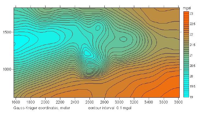Tüttensee Meteoritenkrater Bouguer Anomalien