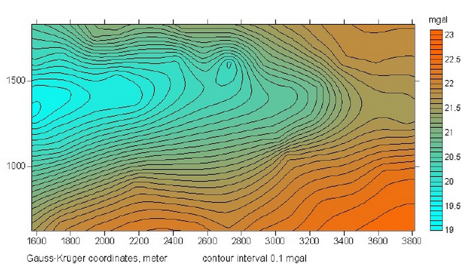 Tuettensee meteorite crater gravity regional field