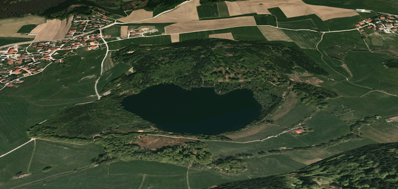 tüttensee Meteoritenkrater schräg google earth