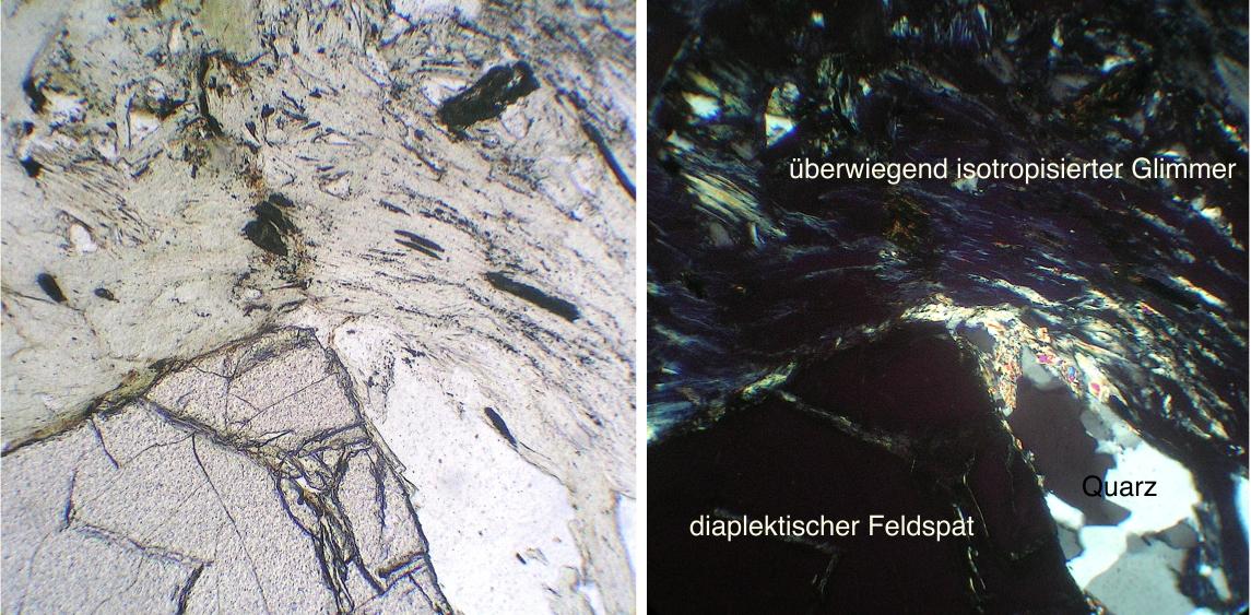 chiemgau Impakt Schock diaplektischer Glimmer und Feldspat II xx 2