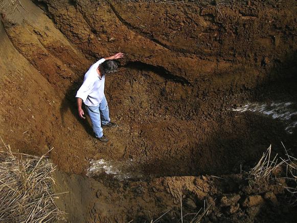 Baggerschurf CIRT Donnerloch Liquefaktion Bodenverflüssigung