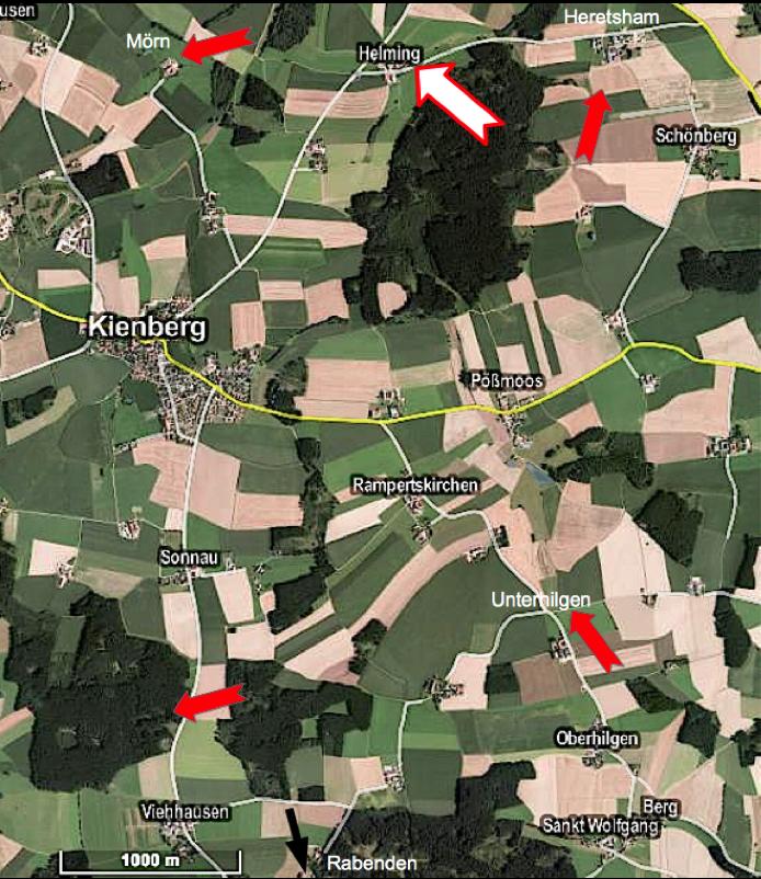 Karte Google Earth Kienberg Donnerlöcher