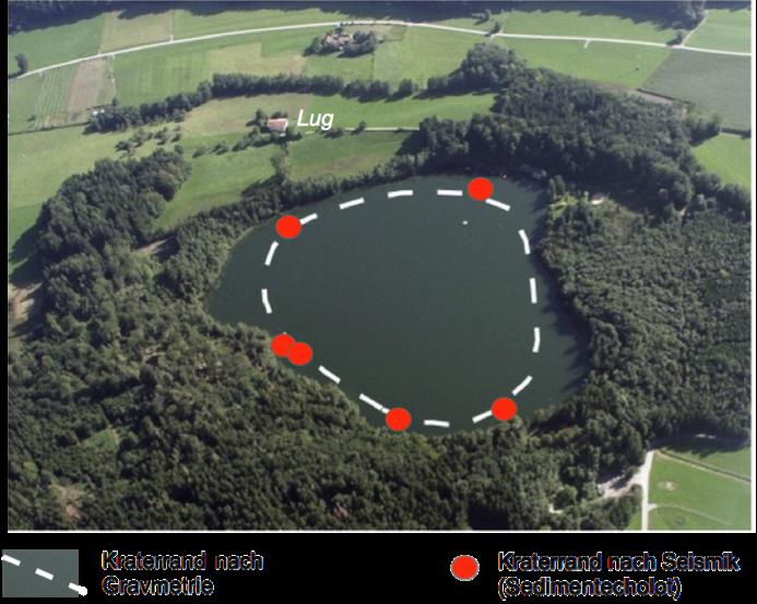 Luftbild Tüttensee Kraterrand Seismik Gravimetrie