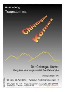 Plakat Ausstellung Traunstein Chiemgau Komet