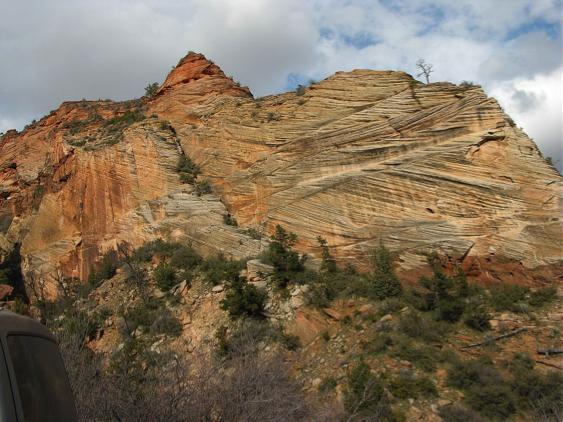 Kreuzschichtung Sandstein
