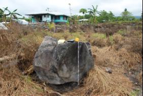 verfrachteter Block Erdbeben Samoainseln