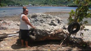 Tsunami Erdbeben Samoainseln verfrachteter Block