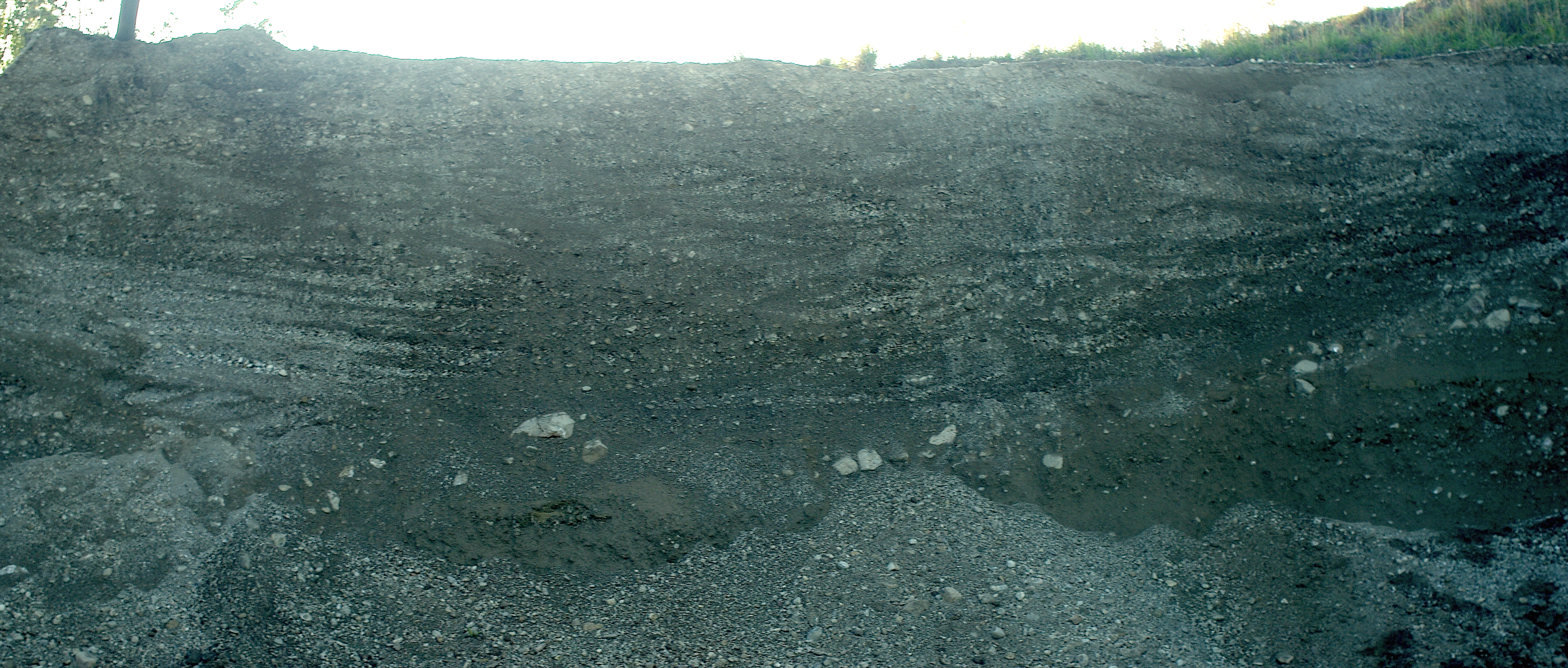 Diamiktit Kreuzschichtung Kiesgrube Eglsee Chiemgau-Impakt
