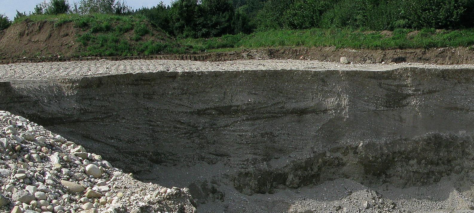 Kiesgrube Egerer Tsunami-Kreuzschichtung