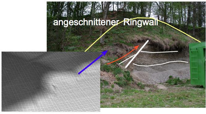Halbkrater Aiging Chiemgau Impakt-Geologie zum Anfassen
