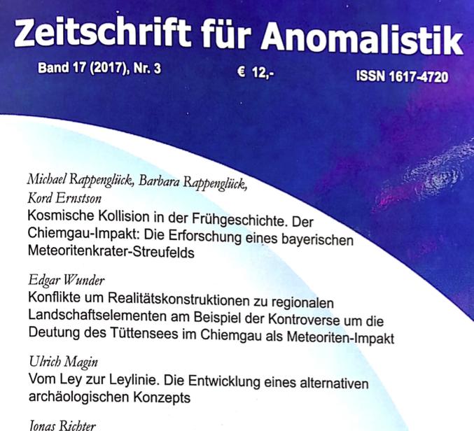 Zeitschrift für Anomalistik Titelblatt Artikel Rappenglück et al.