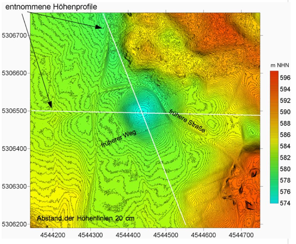 Chiemgau Impakt 200 m Krater Riederting DGM 1 Topographie