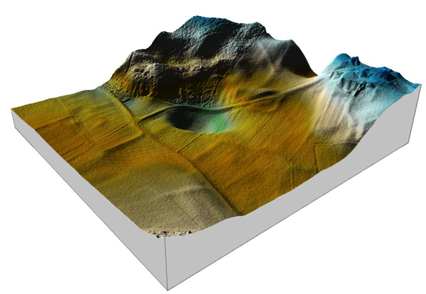 Chiemgau Impakt 200 m Krater Riederting DGM 1 Topographie 3D