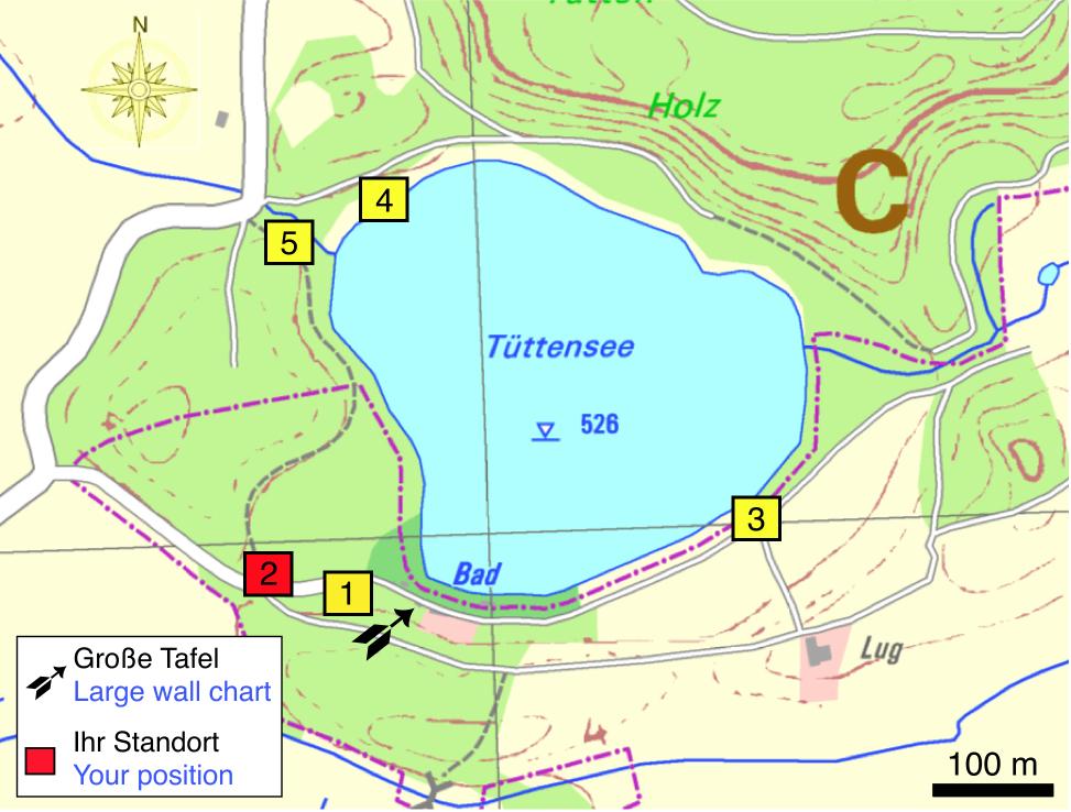 Tüttensee-Meteoritenkrater Impakt-Wanderweg 1