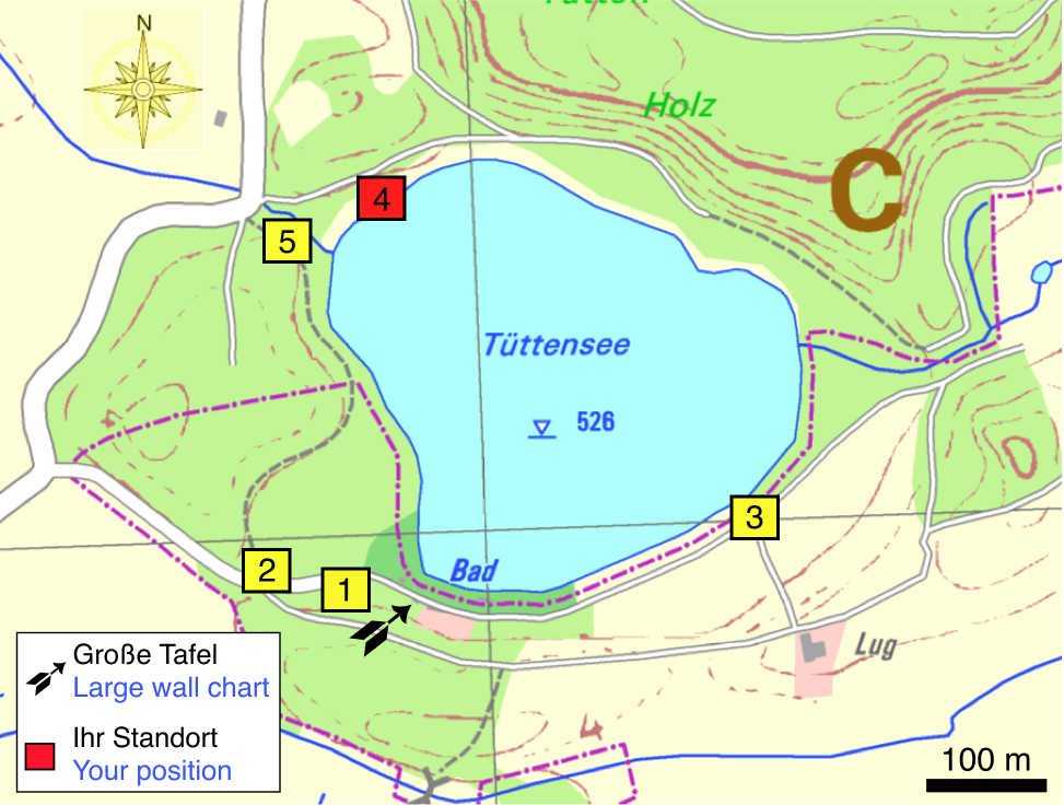 Tüttensee-Meteoritenkrater Impakt-Wanderweg 2