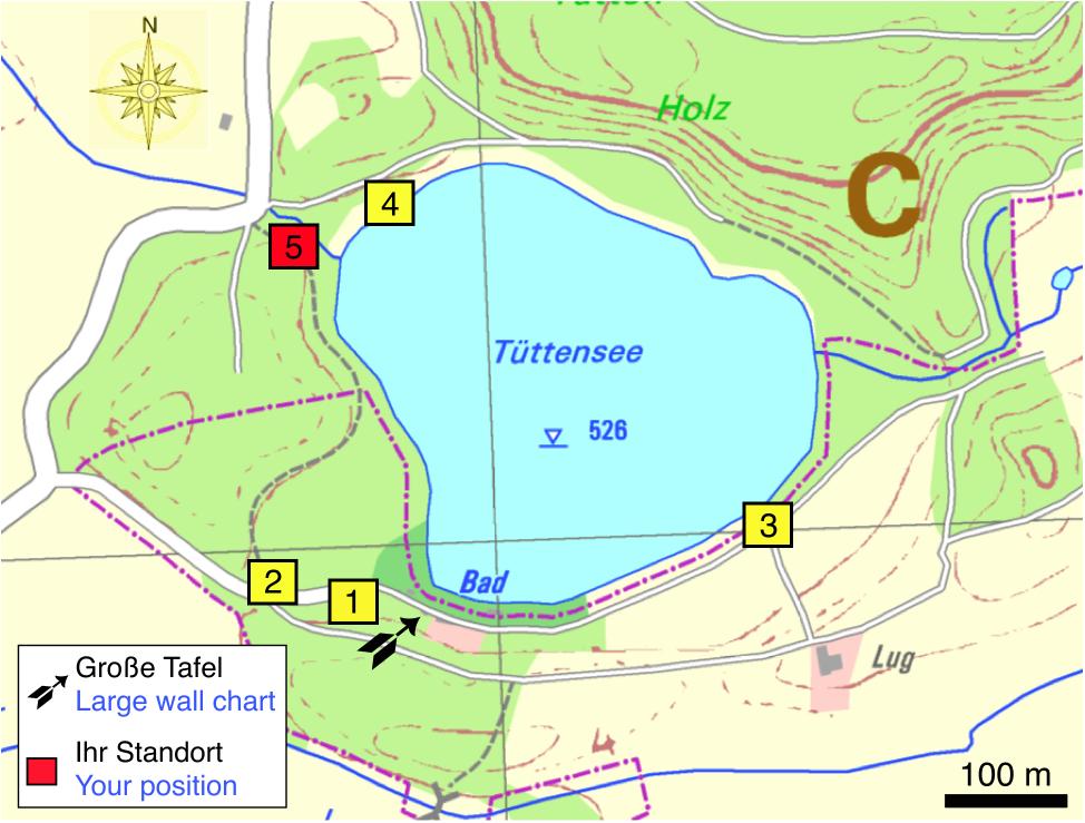 Tüttensee-Meteoritenkrater Impakt-Wanderweg 3