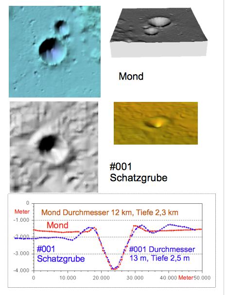 Krater Mond Chiemgau -Impakt Krater #0ß01