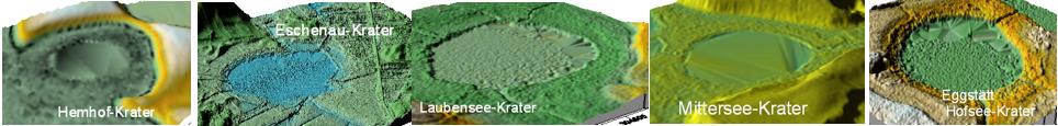 große Krater Eggstätter Seenplatte Chiemgau Impakt